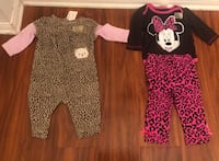 Baby Girl Clothes Size 3-6 months. $6 for both