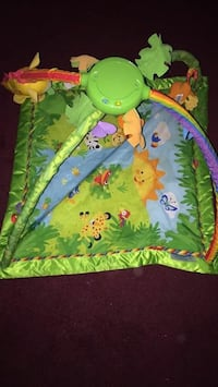 baby's green teal and orange animal theme activity gym Swatara, 17111