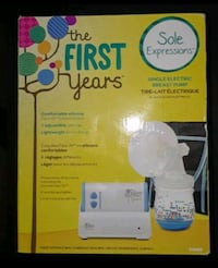 white The First Years single electric breast pump box