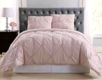 New Beautiful Queen Size Pintuck Dusty Rose Duvet Cover Set  Aurora, L4G 6T5