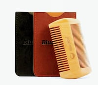 New PearWood Portable Beard/Mustache Comb & Pouch Toronto, M5B 2P6