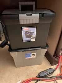 Two storage bins for office supplies and etc. Both for five dollars Baltimore, 21206