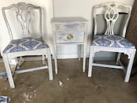 two white wooden side tables Hagerstown, 21740