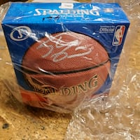 Shaquille O'Neal Autograph Full Size NBA Basketball Herndon, 20171