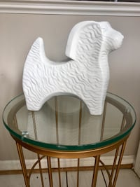 White Ceramic Dog Decor 37 km