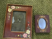 Pair of beautiful hand painted wooden frames