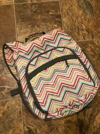 White, black, and pink chevron 31 backpack or camera bag Fenton, 63026