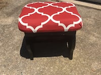 Refurbished old wood stool <> new paint <> new fabric <> very nice <> Newport News, 23601