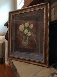 brown wooden framed painting of brown and white house Weddington, 28104