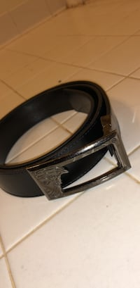black and gray leather belt Herndon, 20171