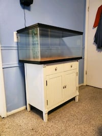 Aquarium and white storage cabinet West Valley City, 84120