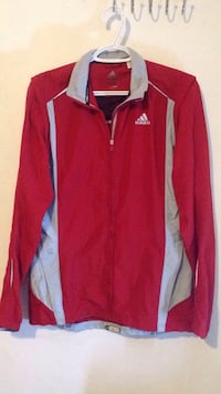 Red and white adidas zip-up jacket Victoria, V8W