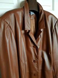 Ladies Plus Size Classic Tan Leather Jacket Sz 26 Toronto, M5M