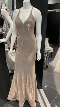 Stunning champagne glittery gown Mississauga, L4Z 3T5