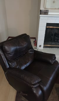 Chocolate-Brown Recliner