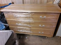 brown wooden 6 drawer chest Armena, T0B 0G0
