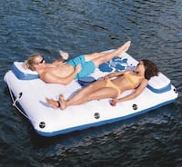2-Person Inflatable Floating Lounge with Cooler Bag Chicago Ridge, 60415