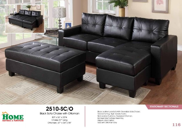 Wondrous Sectional Sofa Chaise With Ottoman Included Brand New In Box Customarchery Wood Chair Design Ideas Customarcherynet