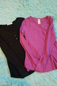 2 button up, thermal fabric, size M shirts, new Erie, 16508