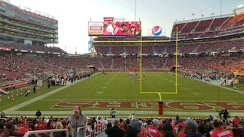 2 tickets to NFC Championship Game lower level aisle seats