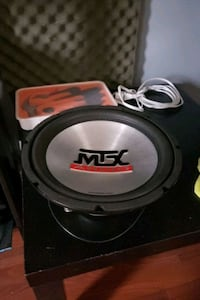 black and gray MTX Audio subwoofer Toronto, M6B 2B2