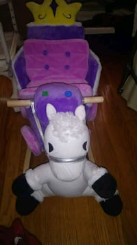 Unicorn rocking horse for child