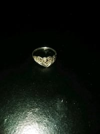 Real Sterling Silver heart ring Sz 6 Warner Robins, 31088