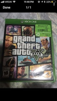 Grand Theft Auto Five Xbox One game case Calgary, T2C 3N5