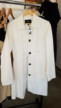 Jacob women's white button-down coat St. Albert, T8N 2R1