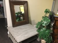 """Homesense large solid mirror. Suits any decor. 39"""" x 29"""". Hangs beautifully vertically or horizontally worth $99. at Homesense, sticker still on the back although lightly used St Catharines, L2P 3K9"""