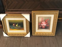 two brown wooden framed painting of flowers Vaughan, L4H 1T2