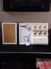 2 hanging organization units/ one cork board and cubbies and dry erase board Mississauga, L5J 1L3