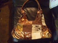 women's brown and black leather shoulder bag Calgary, T2B 0E5