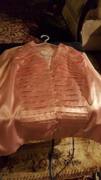 Pink Dress Shirt with see threw sleeves  Edmonton