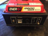 Red and black portable generator 3728 km