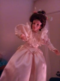 Porcelin doll  in n Weddi g dress