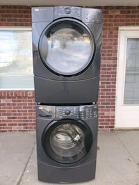 Kenmore brown washer and electric dryer set good working conditions  Wheat Ridge, 80033