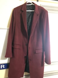 Wine Red Mens's Peacoat from Zara - WITH TAG ON New Westminster, V3M 5S9