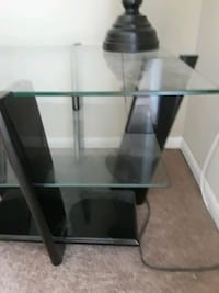 End table, contemporary, black laquer finish Allentown