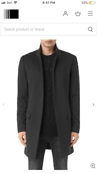 Allsaints FIDO cost- 40R (M) - charcoal grey Toronto, M1N 1H3
