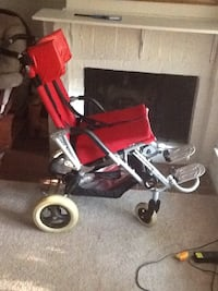 red and gray wheelchair Dallas, 75240