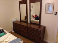 Nine-drawer dresser with two mirrors, matching Queen-sized headboard Montgomery Village