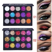 Glitter eyeshadow sparkle makeup pink blue purple silver gold red white orange Markham, L3P 1R5