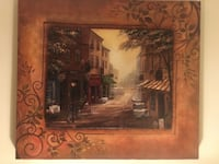 Painting on Canvas if European Town Norfolk, 23502