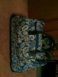 blue and white floral tote bag. Brand new!!