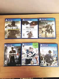 PS4 Video Games - Must Go  Toronto, M6M 1T3