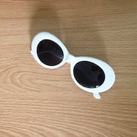 white framed black lens sunglasses Côte-Saint-Luc, H4W 1A5