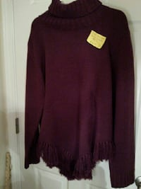 New QVC plum fringe sweater Myrtle Beach, 29588