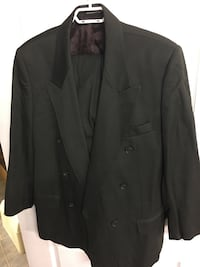 black notch lapel suit jacket