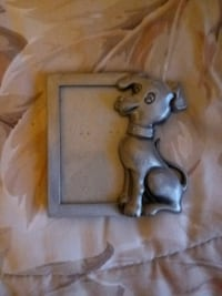 Pewter Picture Frame with Dog